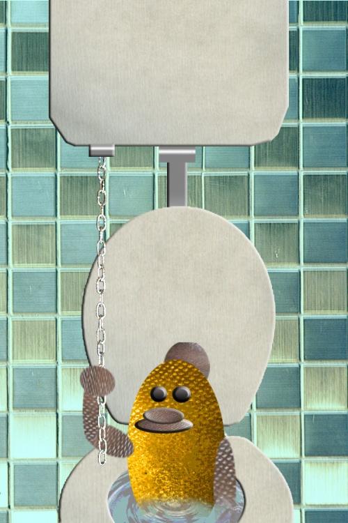 flushing gold fish